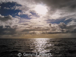 Middle of False Bay, South Africa, early morning by Gemma Pellett