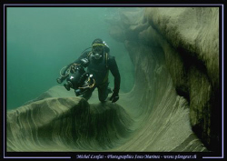 My Friend JP with his underwater video Camera in the fres... by Michel Lonfat