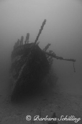 The Wreck of the Fearless in the Francis Drake Channel by Barbara Schilling