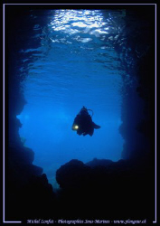 Diving Caves in Comino / Malta Island... :O) ... by Michel Lonfat