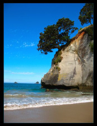 Cathedral Cove, NZ by Stephen Holinski