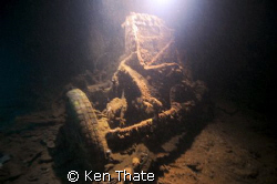This pic is of the remains of a truck in a hold of a ship... by Ken Thate