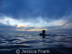 Sunset diving in the middle of the Andaman Sea. by Jessica Frank