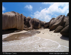 Coco Island - This was taken from the beach of a tiny lit... by Margo Cavis