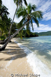 Beautiful shore line of Qamea, Fiji by Michael Shope