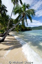 Beautiful shore line of Qamea, Fiji by Michael Shope