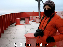 Braving the cold by Christine Huffard