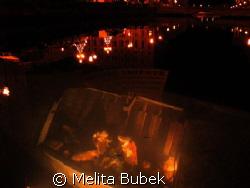 """Auguri Trieste""...Christmas crib on the little sinking-b... by Melita Bubek"