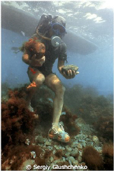 Old diver/// by Sergiy Glushchenko
