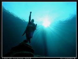 an Angel on Cornino Lake (Lago di Cornino, NE Italy), nat... by Melita Bubek
