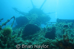 HMAS Swan, looking up at the crows nest by Brian Naylor