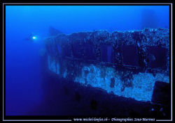 Diving the Um El Faroud on the Island of Malta. A beautif... by Michel Lonfat