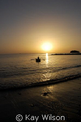 Sunset at Buccament Bay, St. Vincent, St. Vincent and the... by Kay Wilson