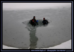 Yesterday's under The Ice Diving. With my friend JP : the... by Michel Lonfat