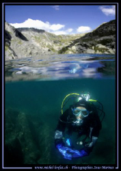 High altitude lake diving in my region, in Valais - but u... by Michel Lonfat