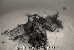 Bristol Beaufighter,  depth 37m, Malta by Aleksandr Marinicev