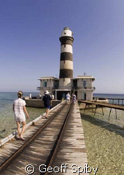 a visit to the lighthouse on Daedelus reef, southern Red Sea by Geoff Spiby