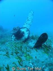 Airplane wreck kreta greece by Sven Ter Mul
