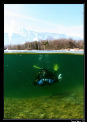 Divebuddy Dani finishing a great dive at le Duzillet this... by Daniel Strub