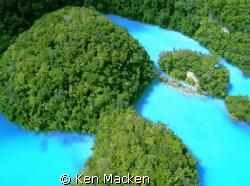 The Milky Way in Palau from a helicopter. This is the tru... by Ken Macken