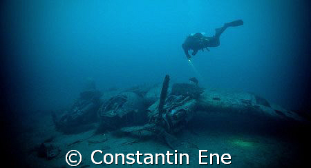A Heinkel 111 at the seeground on 36-37 m by Constantin Ene