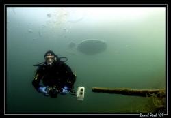 Buddy Daniel under the ice in a small pond ! Great fun :-) by Daniel Strub