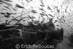 """Anchor winch of the SS Thistlegorm in B&W. A day """"full o... by Erich Reboucas"""