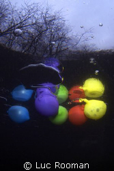 Ice Baloons. This shot is taken under the ice last winte... by Luc Rooman