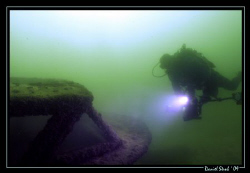 """My friend and dive buddy Sven on our small wreck """"Zigoune... by Daniel Strub"""