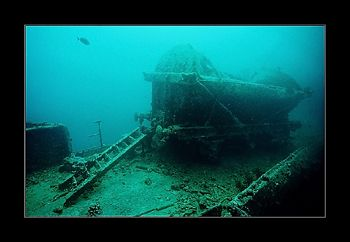Anyone fancy an underwater train ride? Thistlegorm. Nik.V... by Johannes Felten
