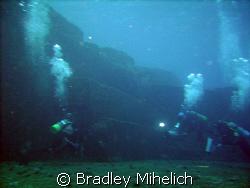 Iseki underwater ruins off Yonaguni jima.  Whether these ... by Bradley Mihelich