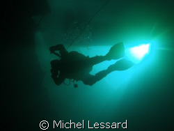 ICE DIVING COURSE , MY BODY AND INSTRUCTOR AT FLINTCOTE by Michel Lessard