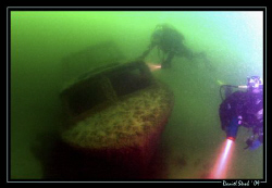 """The """"Wels Barge"""" and divers ... great fun and great dive ... by Daniel Strub"""