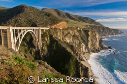 Bixby bridge and Highway 1 coast, Big Sur, California. by Larissa Roorda