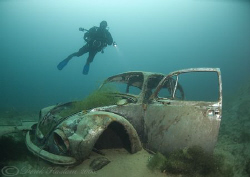 Mark with Beetle. Capernwray. D200, 10.5mm. by Derek Haslam