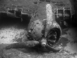 One parts of the famous B-17 destroyed at the end of 2e w... by Sylvain Kuster