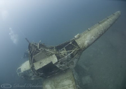 Helicopter wreck. Capernwray. D200, 10.5mm. by Derek Haslam