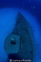 The Tibbett's wreck, via fish-eye by Larissa Roorda