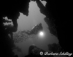 Another Black & White creation from the RMS Rhone by Barbara Schilling