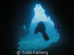 cave diving in Thailand by Todd Karberg