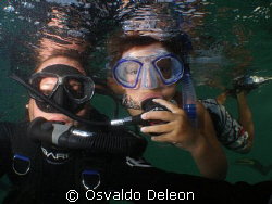 The best dive buddy, my little son TATI by Osvaldo Deleon