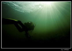 Sven finishing his dive at Rivaz gare, just great fun :-)) by Daniel Strub