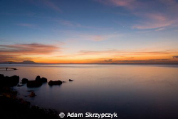 Post sunset, long exposure - from the shores of Anilao by Adam Skrzypczyk
