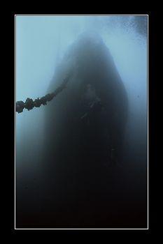 GHOST SHIP Thistlegorm, bow section, taken from sea bottom. by Johannes Felten