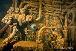 """Deep Down in the Engine Room""-Chuuk Lagoon 2008 by Richard Goluch"