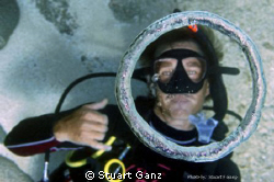 I took this picture of Drew swimming upside down on the  ... by Stuart Ganz