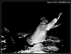 Taken in the swiming pool. Canon powershot G9 with flash... by Veronika Matějková