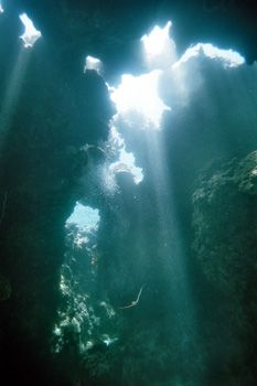 Ambiance dans une petite grotte des Philippines by Philippe Brunner