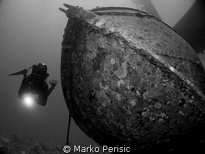One of the life boats rests by the side of the Salem Expr... by Marko Perisic