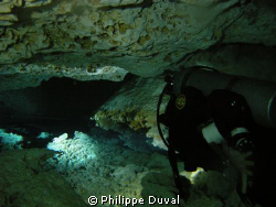 That pictures was taken during a fullcave dive in the cav... by Philippe Duval